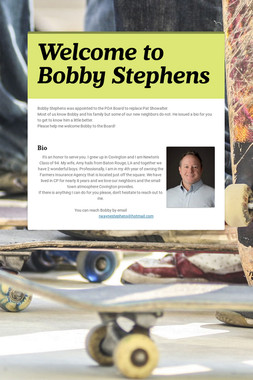 Welcome to Bobby Stephens