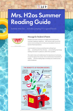 Mrs. H2os Summer Reading Guide