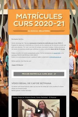 matrícules curs 2020-21