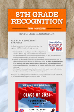 8th Grade Recognition