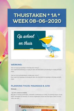 THUISTAKEN * 1A * week 08-06-2020