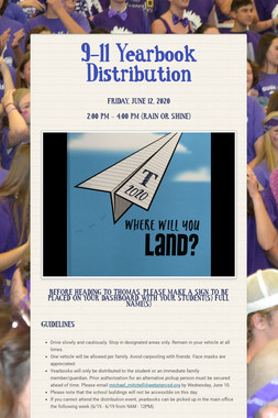 9-11 Yearbook Distribution