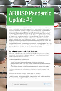 AFUHSD Pandemic Update #1
