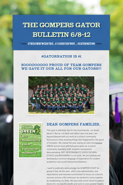 The Gompers GATOR Bulletin 6/8-12