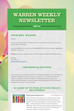 Warren Weekly Newsletter