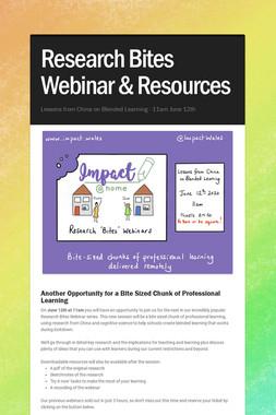 Research Bites Webinar & Resources