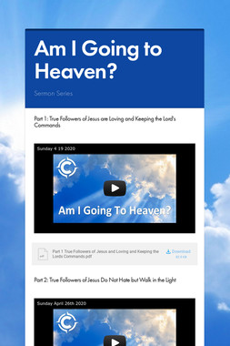 Am I Going to Heaven?