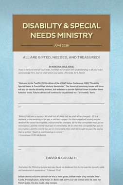 Disability & Special Needs Ministry