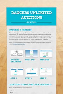 Dancers Unlimited Auditions