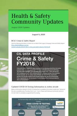 Health & Safety Community Updates