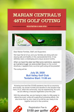 Marian Central's 48th Golf Outing
