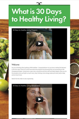 What is 30 Days to Healthy Living?