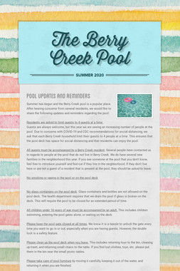 The Berry Creek Pool