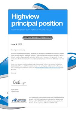 Highview principal position
