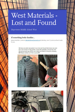 West Materials - Lost and Found