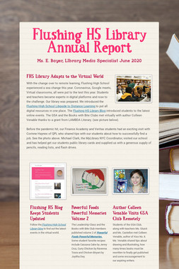Flushing HS Library Annual Report