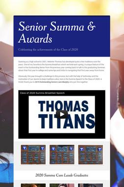 Senior Summa & Awards