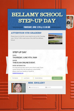 Bellamy School    Step-Up Day