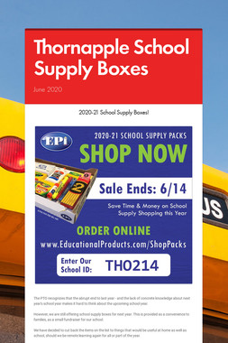 Thornapple School Supply Boxes