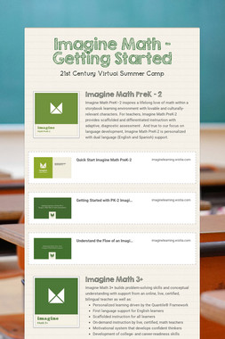 Imagine Math - Getting Started