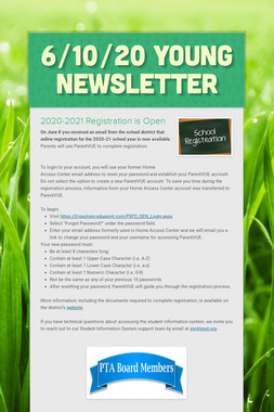 6/10/20 Young Newsletter