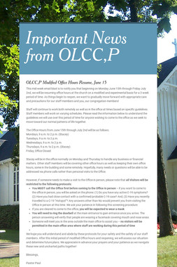 Important News from OLCC,P