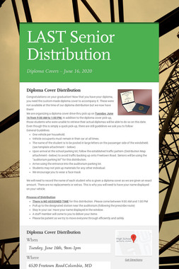 LAST Senior Distribution