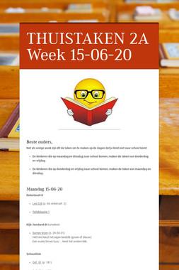 THUISTAKEN 2A Week 15-06-20