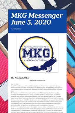 MKG Messenger June 12, 2020