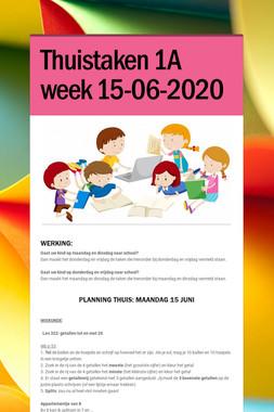 Thuistaken 1A week  15-06-2020