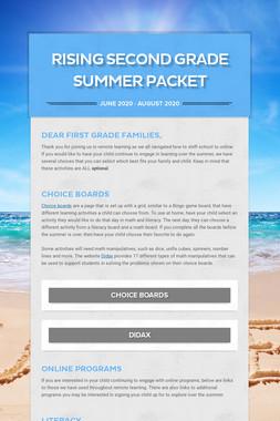 Rising Second Grade Summer Packet