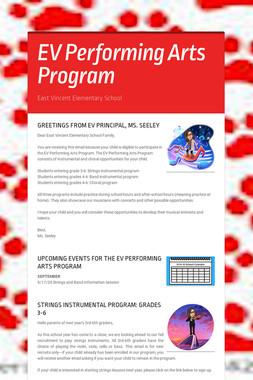 EV Performing Arts Program