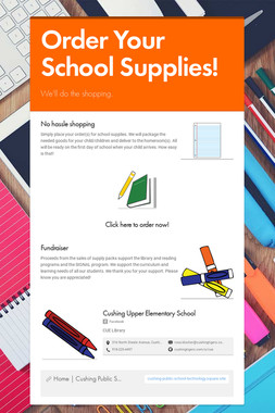 Order Your School Supplies!