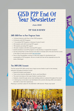 GISD P2P End Of Year Newsletter