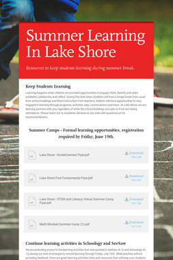 Summer Learning In Lake Shore