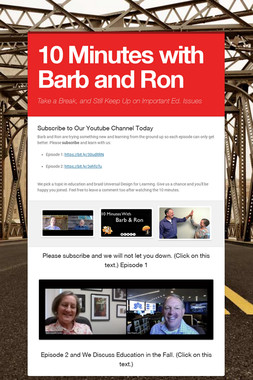10 Minutes with Barb and Ron