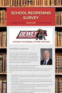 School Reopening Survey