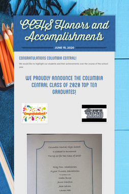 CCHS Honors and Accomplishments