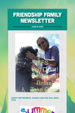 Friendship Family Newsletter