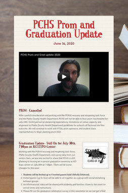 PCHS Prom and Graduation Update