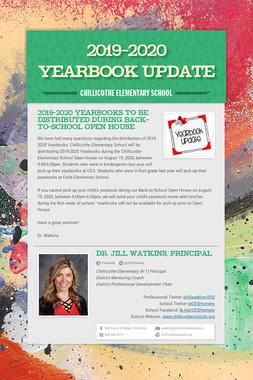 2019-2020 Yearbook Update