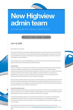 New Highview admin team