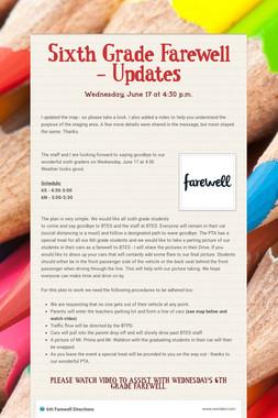 Sixth Grade Farewell - Updates