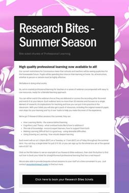 Research Bites - Summer Season