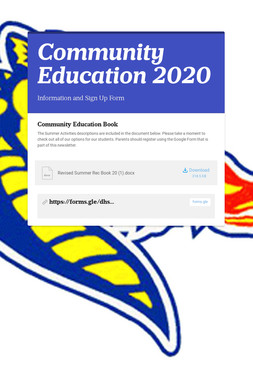 Community Education 2020