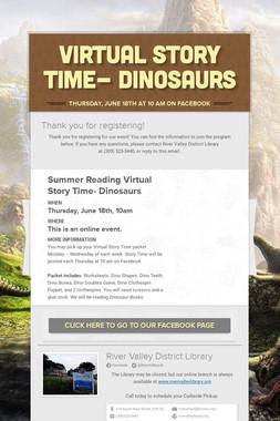 Virtual Story Time- Dinosaurs