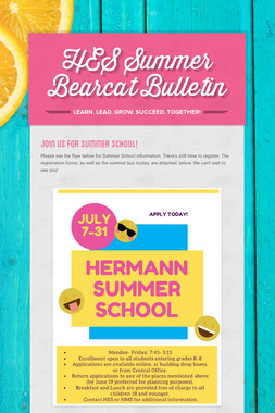 HES Summer Bearcat Bulletin
