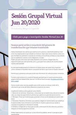 Sesión Grupal Virtual Jun 20/2020