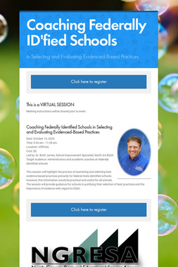 Coaching Federally ID'fied Schools
