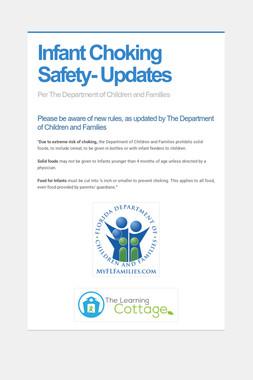 Infant Choking Safety- Updates